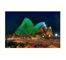 Luminous Opera House Art Print