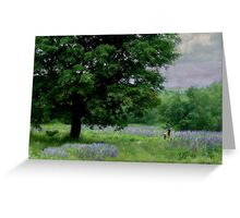 A Childs Walk Among Lupine Greeting Card