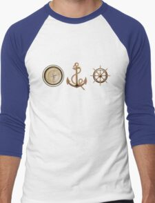 Nautical Symbols Men's Baseball ¾ T-Shirt