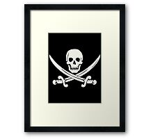 White Pirate Framed Print