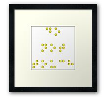 Do Not Touch in Braille in Yellow Framed Print
