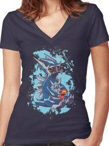 Gamer Dialga Women's Fitted V-Neck T-Shirt