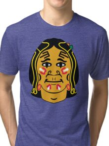 Blackhawks logo - From Front Tri-blend T-Shirt