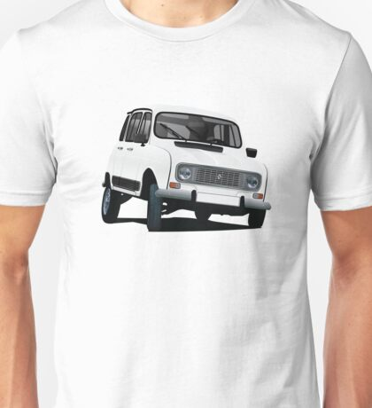 Renault 4L illustration, white Unisex T-Shirt