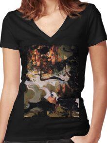 My Wonderland is shattered Women's Fitted V-Neck T-Shirt