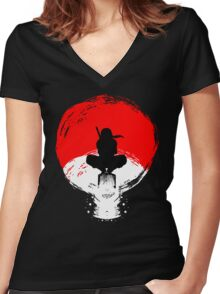 strongest clan Women's Fitted V-Neck T-Shirt