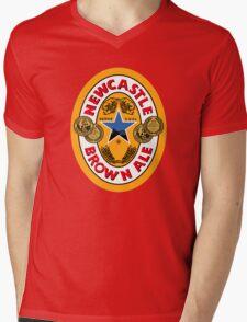 NEWCASTLE BROWN ALE Mens V-Neck T-Shirt