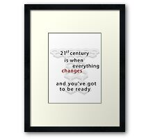 Torchwood 21st century Framed Print