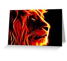 EYE OF THE LION Greeting Card