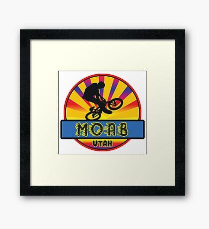 MOUNTAIN BIKE MOAB UTAH BIKING MOUNTAINS Framed Print