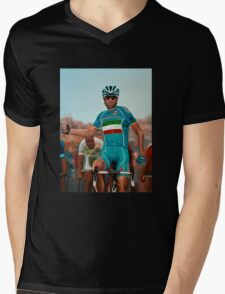 Vincenzo Nibali Painting Mens V-Neck T-Shirt