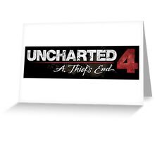 Uncharted - Uncharted 4 A Thief's End Logo Greeting Card