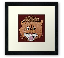 Yarn Tiger Framed Print