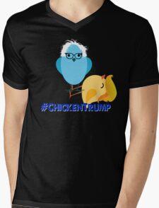 #Chickentrump Chicken Trump Donald Bernie Sanders #birdiesanders #feelthebern #dumptrump Funny Cartoon Democrat Hillary Mens V-Neck T-Shirt