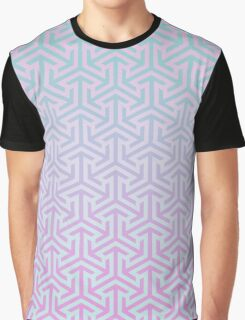 Cube pattern Graphic T-Shirt
