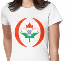 Indo Canadian Multinational Patriot Flag Series Womens Fitted T-Shirt