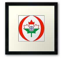 Indo Canadian Multinational Patriot Flag Series Framed Print