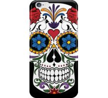 Colorful Sugar Skull iPhone Case/Skin