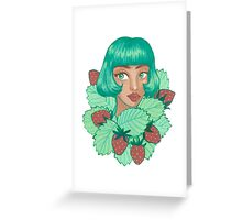 Strawberry girl Greeting Card