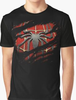 Spiderman Chest Ripped Graphic T-Shirt