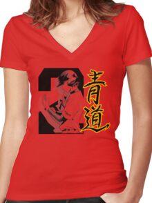 Diamond no Ace - Miyuki Kazuya Women's Fitted V-Neck T-Shirt
