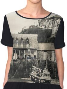 Harbour Office and Boat - Cornwall Chiffon Top