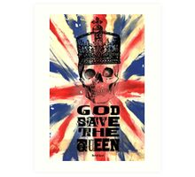 GOD SAVE THE QUEEN JACK Art Print