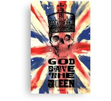 GOD SAVE THE QUEEN JACK Canvas Print