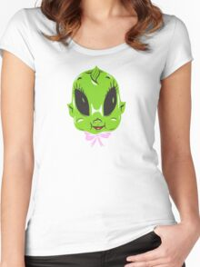 Kewpie Doll Alien Women's Fitted Scoop T-Shirt