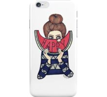Cute little tumblr girl iPhone Case/Skin