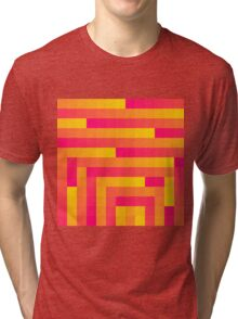 Pink and Yellow Squares Tri-blend T-Shirt