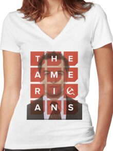 The Americans - Philip Women's Fitted V-Neck T-Shirt