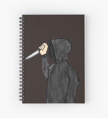 Psychopathic Knife Man Spiral Notebook