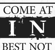 """""""You Come at the King, You Best Not Miss"""" - The Wire (Dark) Sticker"""