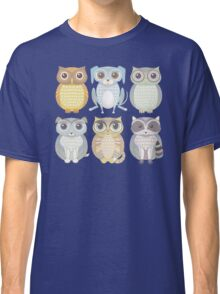 Owls, Dogs, Cat, Raccoon Classic T-Shirt