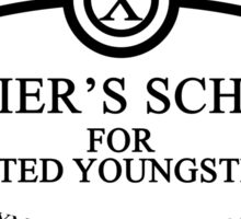 X Men - Xavier's School - Black Sticker