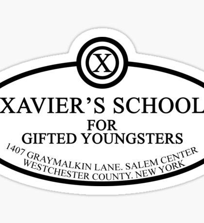 X Men - Xaviers School - Black Sticker