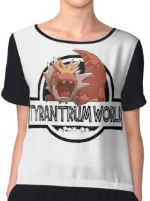 Tyrantrum World Chiffon Top