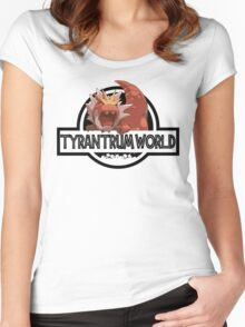 Tyrantrum World Women's Fitted Scoop T-Shirt
