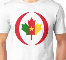 Cameroon Canadian Multinational Patriot Flag Series Unisex T-Shirt