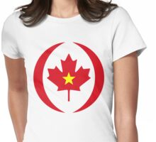 Vietnamese Canadian Multinational Patriot Flag Series Womens Fitted T-Shirt