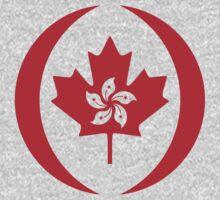 Hong Kong Canadian Multinational Patriot Flag Series One Piece - Short Sleeve