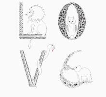 Love animals One Piece - Short Sleeve
