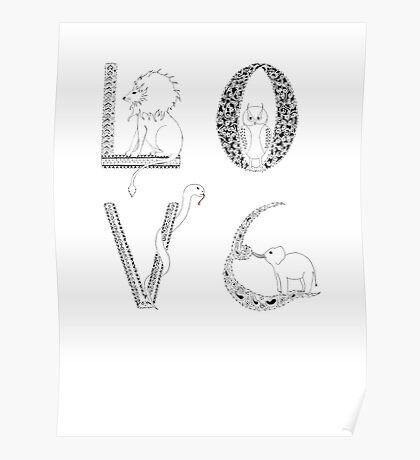 Love animals Poster