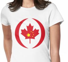 Chinese Canadian Multinational Patriot Flag Series Womens Fitted T-Shirt