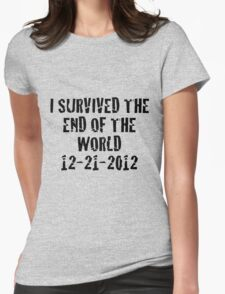 I Survived 2012 Womens Fitted T-Shirt