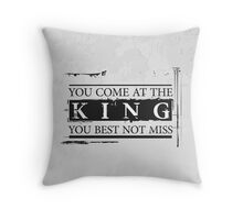 """""""You Come at the King, You Best Not Miss"""" - The Wire (Dark) Throw Pillow"""