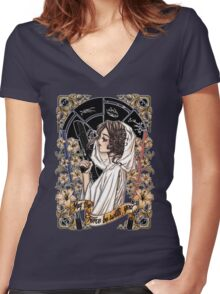 The force of the Princess Leia Women's Fitted V-Neck T-Shirt