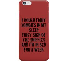 Zombies & Sniffles (Black) iPhone Case/Skin