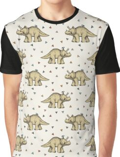 Triceratops & Triangles Graphic T-Shirt